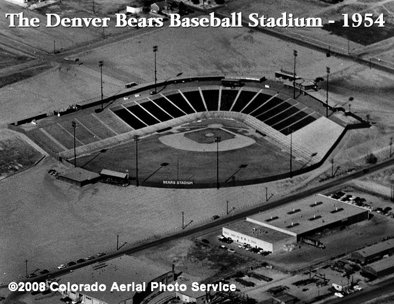The 1954 Denver Bears Baseball Stadium